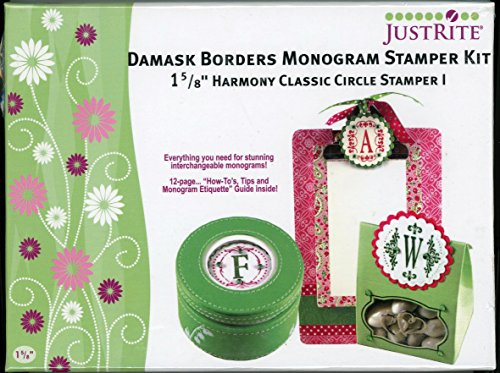 Damask Monogram Kit, JustRite Stampers