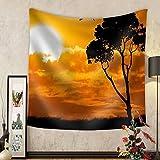 Gzhihine Custom tapestry Africa Safari Nature Sunset. Element of Design. - Fabric Wall Tapestry Home Decor