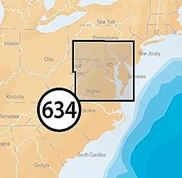 Navionics Platinum Plus 634P+ Chesapeake Bay Marine Charts on SD/MSD