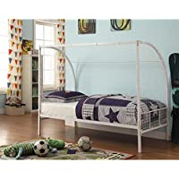 4D Concepts Boltzero Soccer Twin Bed in White