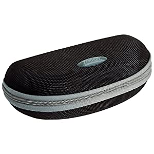 BEST SELLING SUN GLASSES AND GOGGLE CASE ON AMAZON! Zoggs Hardcover Protective Goggle and Sunglasses Carrying Case. Zipper with soft lining inside to prevent scratches on the lenses. (Black-Silver)
