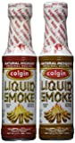 Bundle - 2 Items: Colgin Gourmet Liquid Smoke - Natural Mesquite and Natural Hickory Flavors (4 oz each)