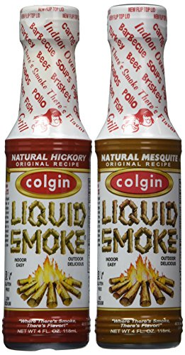 Colgin Gourmet Liquid Smoke - Natural Mesquite and Natural Hickory Flavors