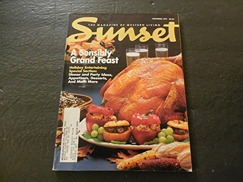 - Sunset Mag Of Western Living Nov 1991 Grand Feast; Holiday Entertaining