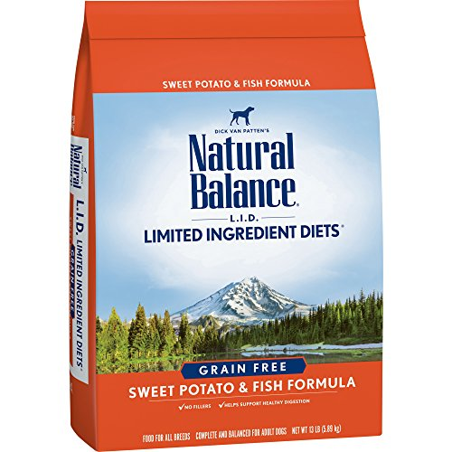 Natural Balance Limited Ingredient Diets Sweet Potato & Fish Formula Dry Dog Food, 13 Pounds, Grain Free (Best All Natural Dog Food Ratings)