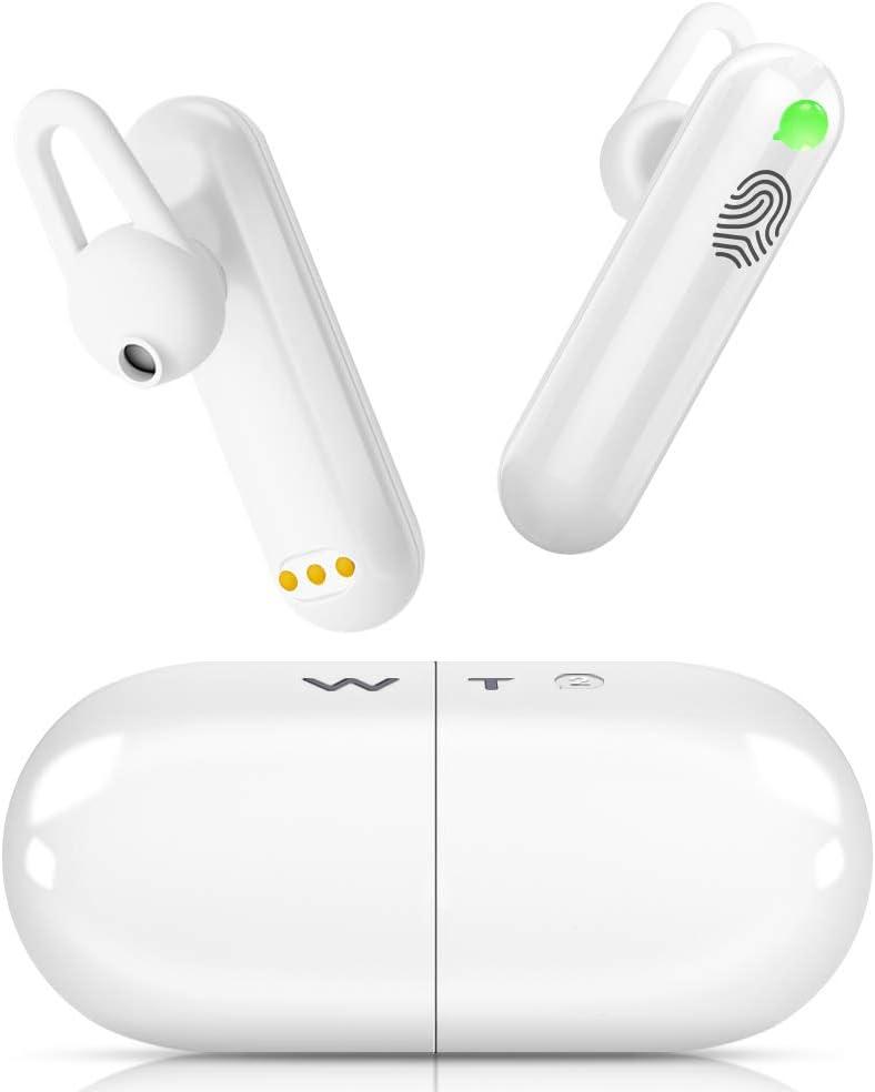 Übersetzer Sprachübersetzer - WT2 Plus Smart Dolmetscher, Touch-Steuerung Language Translator In Ear mit APP für iOS und Android, 93 Dialekte 40 Sprachen, mit Ladekoffer, für Business Konferenz Lerne