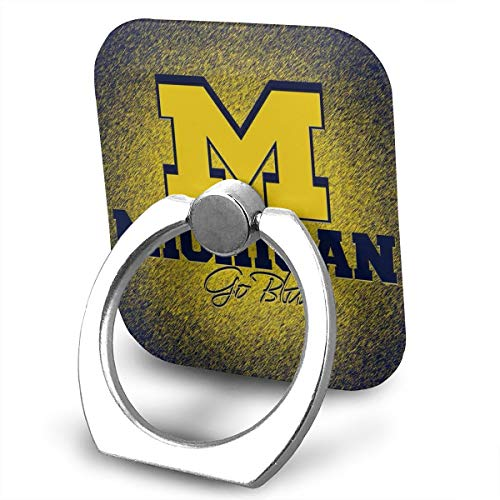 SJWE0 Michigan Phone Ring Grips 360 - iPhone Ring Holder/Phone Stand/Phone Ring Stent Any Smartphones Device Including iPhone 6s, Samsung Galaxy S5 & All Others