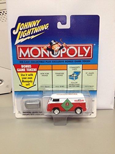 Johnny Lightning Monopoly free parking '60 vw van (rare) includes game token