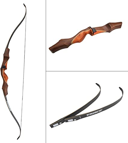 Black Hunter Recurve Bow Longbow Limbs Replacement 30lbs-60lbs Archery Takedown