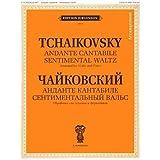 Tchaikovsky, Pyotr Ilyich Andante Cantabile & Sentimental Waltz Violin Piano by F Laub Jurgenson