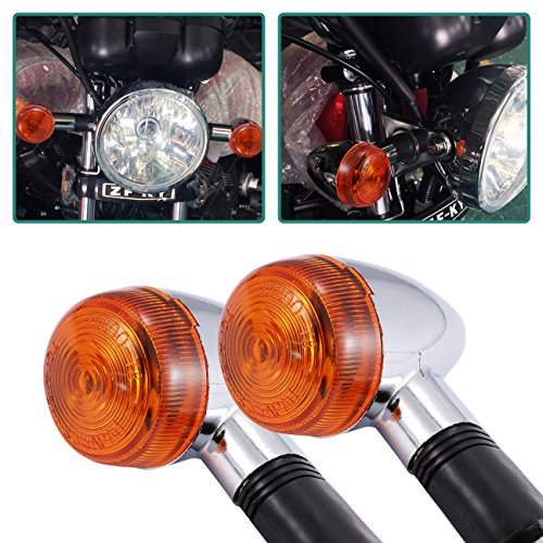 INNOGLOW Motorcycle Turn Signal Lights Chrome Bullet Front Rear Blinker Indicator Light for Harley Honda Kawasaki Suzuki Yamaha Motorcycle Street Standard Custom Bike Cruiser Bobber Chopper (2 (Honda Shadow Bike)