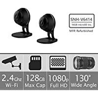 Samsung SNH-V6414BMR SmartCam HD Full HD 1080p Wi-Fi Camera Bundle Double Pack, Black (Manufacturer Refurbished)