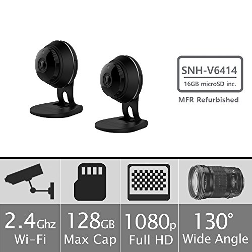 2 pack of SNH-V6414BMR - Samsung HD Plus WiFi IP Camera with