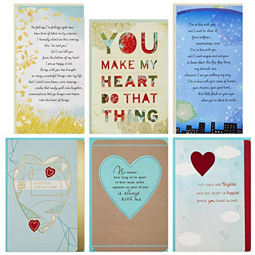 Hallmark Flirting/Dating/Love Assortment (6 Cards and 6 ()