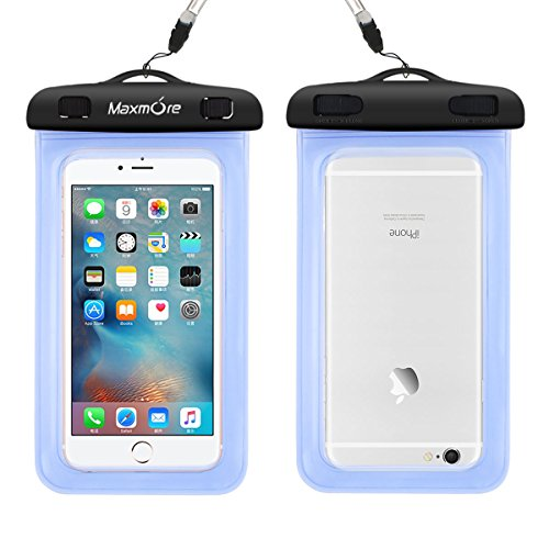 Maxmore Universal Cellphone Music Player Waterproof Dustproof Dry Bag Case Pounch for Iphone/Samsung/HTC LG Sony Nokia Motorola or Any up to 6.0