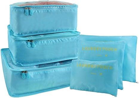 Valise léger Maille de voyage emballage Cubes-Organisateur Bagage 6 Set P