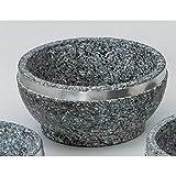 Korean Tableware utw483-23-674 [6.3 x 3 inch] Japanece ceramic 16cm stainless steel winding Ishinabe tableware