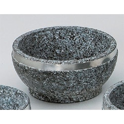 Korean Tableware utw483-23-674 [6.3 x 3 inch] Japanece ceramic 16cm stainless steel winding Ishinabe tableware