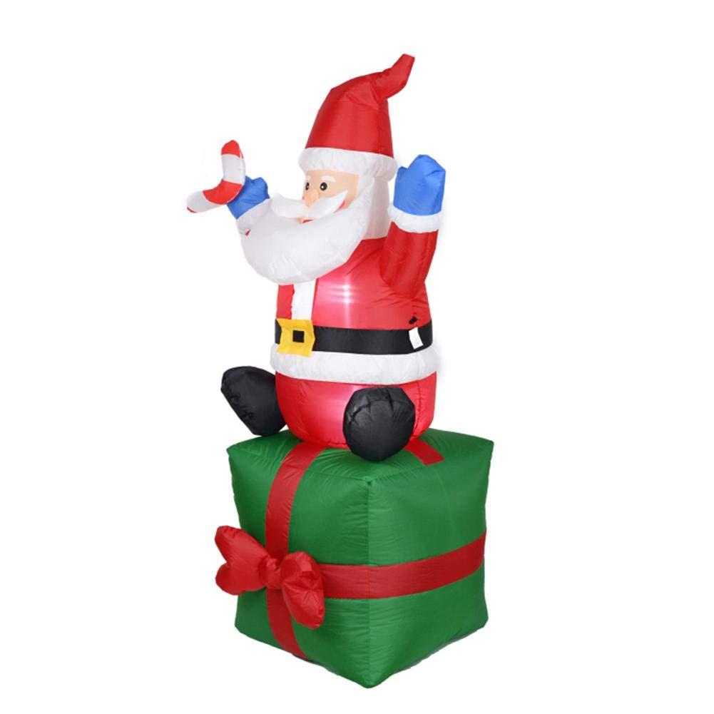 Ahomi - Adorno Hinchable de Papá Noel para decoración de Navidad, Año, Fiesta, Hogar, Jardín, Enchufe de la UE