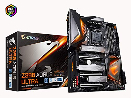 GIGABYTE Z390 AORUS Ultra (Intel LGA1151/Z390/ATX/3xM.2 Thermal Guard/Onboard AC Wi-Fi/RGB Fusion/Gaming Motherboard) (Renewed)