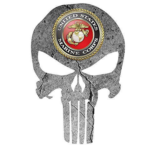 United States Marine Corp Punisher Decal Window Fits Jeep Dodge Ford Chevy Trucks Cars