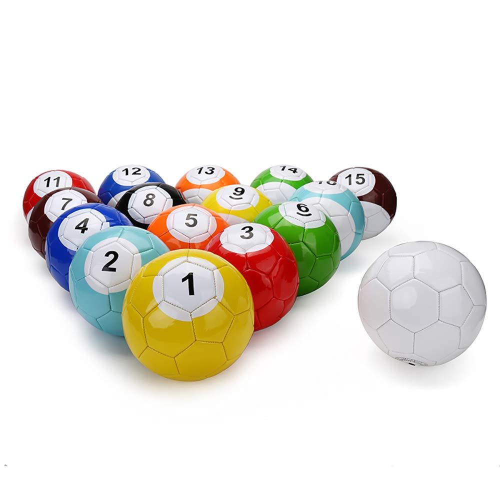 Electric Magic 16 Pcs Gaint Snookball Snook Ball Snooker Street Soccer Ball Game Huge Billiards Pool Football Sport Poolball Size 2