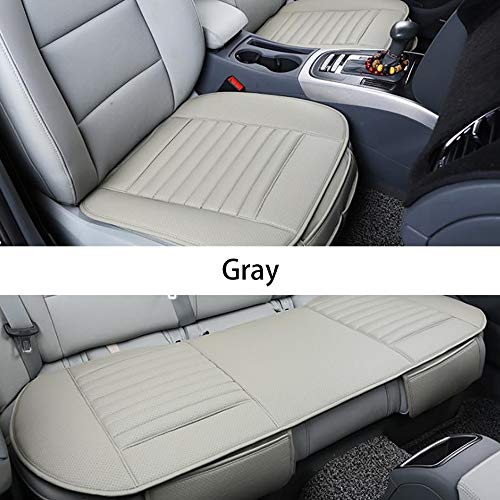 YGGB New Car Seat Cushion Car Seat Pads Universal Bamboo Charcoal Car Cushion Four Season Comfortable and Breathable Protective for Office Chair Car Seat (Black), Three-Piece Grey (Best Convertible Car Seat For Honda Accord)