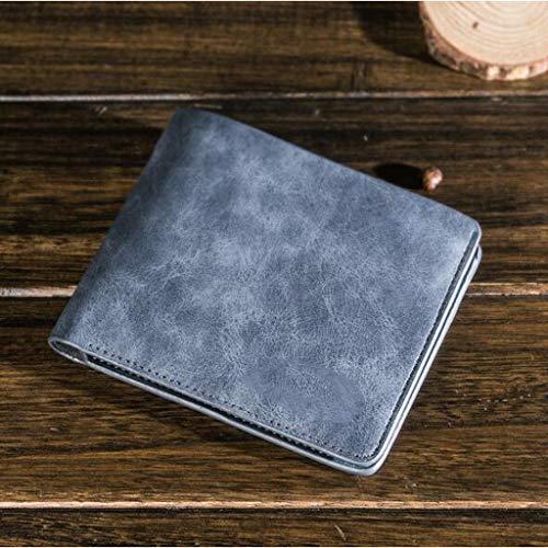 Scrub Gray Portefeuille couleur Étudiant One Nouveau Pour Achats Court Taille Gray Size Homme Retro Vertical rz60rqw
