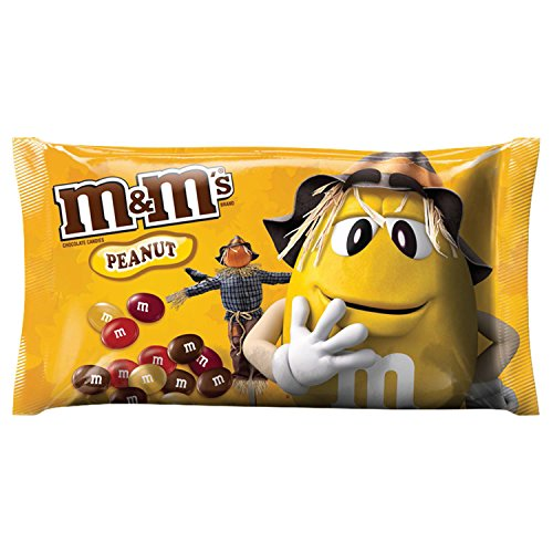 M&M's Peanut Chocolate Candy Fall Harvest Blend, 11.4 Ounce Bag (Pack of 24) (M S Halloween)
