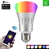 7 watt type b bulb - Wi-Fi Smart Light Bulb, Dimmable Multicolored LED Bulbs, 60W Equivalent(7W), Compatible with Amazon Alexa and Google Home, No Hub Required