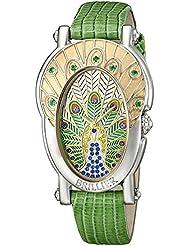 Brillier Womens 19-02 Gr Royal Plume Analog Display Swiss Quartz Green Watch