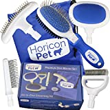 Best Comb For Grooming Dogs - Horicon Pet Premium Dog Brush Set Interchangeable Dog Review