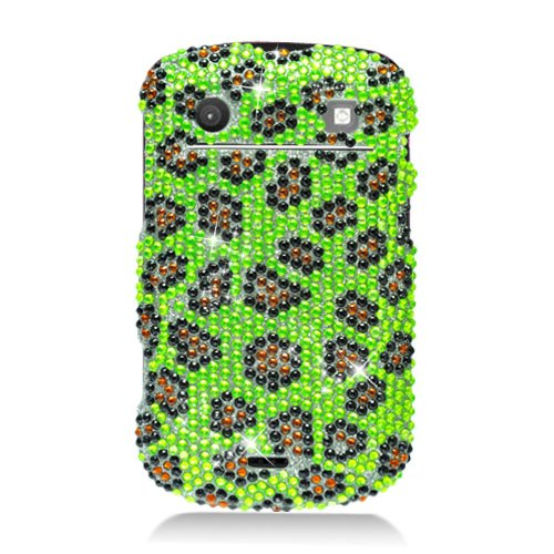 Eagle Cell PDBB9900F394 RingBling Brilliant Diamond Case for BlackBerry Bold 9900 - Retail Packaging - Yellow Leopard Skin