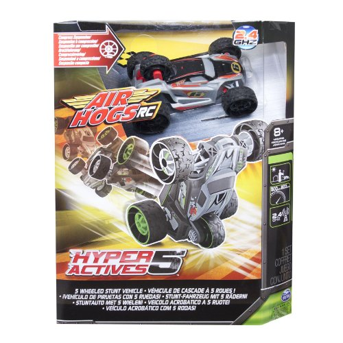 Air Hogs RC Hyper Actives 5 - 5 Wheeled 2.4 GHZ RC Stunt Vehicle - Grey hot sale