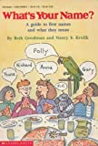 What's Your Name, Beth Goodman, Nancy E. Krulik, 0590439065