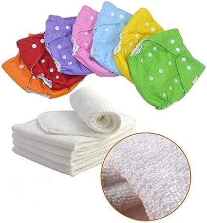 Lot de 7 couches lavables avec inserts Taille unique