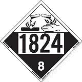 Labelmaster ZT4-1824 UN 1824 Corrosive Hazmat Placard, Tagboard (Pack of 25)