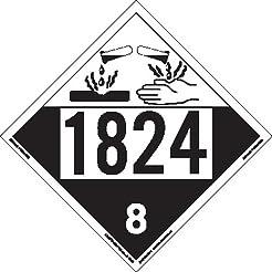 Labelmaster ZT4-1824 UN 1824 Corrosive H...
