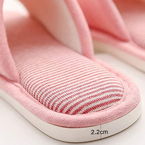 Pantoufle Hiver D'intérieur couleur Et Taille Bois Fond 36 Bleu 37yards En Maison Plancher Td De Antidérapant Automne Pink Coton Mou 6wOv0anq