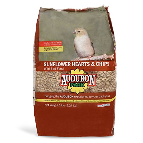 Sunflower Hearts Chips (Audubon Park 12224 Sunflower Hearts & Chips Wild Bird Food, 5-Pounds)