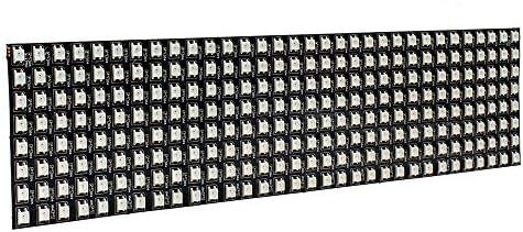 WANGZHI 8 * 32 Centimetri WS2812B 256 Pixel Digitale 5050 RGB Colore di Sogno Programmata Modulo LED Striscia DC5V
