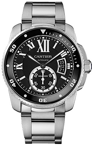 Cartier Calibre de Cartier Diver Black Dial Steel Mens Watch W7100057 - 51fAuBoAFeL - Cartier Calibre de Cartier Diver Black Dial Steel Mens Watch W7100057