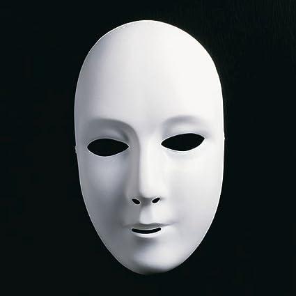 Máscara blanca sin pintar colourear máscara de la ópera de la bola ideal para máscara máscara
