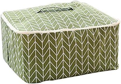 Tonpot Aufbewahrungstasche für Bettwäsche, Decke, Kissen, Kleidung, Pullover, 1 Stück, grün, 48 * 40 * 23cm