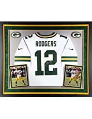 Aaron Rodgers Green Bay Packers Deluxe Framed Autographed Nike White Elite Jersey - Fanatics Authentic Certified