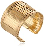 Kenneth Cole New York Gold-Tone Woven Cuff Bracelet