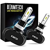 BEAMTECH H1 LED Headlight Bulb,CSP Chips 50W 8000 Lumens 6500K Xenon White Extremely Bright Conversion Kit of 2