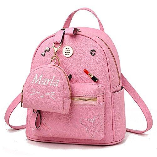 Aoligei Tendance de version coréenne paquet mode personnalité cent Mini sac bandoulière en cuir Lady sac à dos Soft B