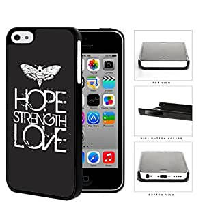 Butterfly Hope Strength Love Eroding Hard Plastic Snap On Cell Phone Case Apple iPhone 5c