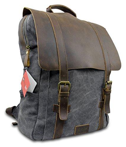 Laptop Rucksack Retro - Echt Leder Vintage Rucksack für die Uni, Schulrucksack oder Business - universal einsetzbar - Ein lässiger Unisex Backpack / Daypack original von My1StTM